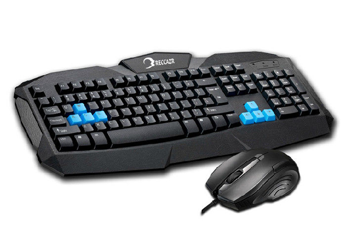 Customized Wired Keyboard And Mouse Combo , Gaming Computer Keyboard And Mouse