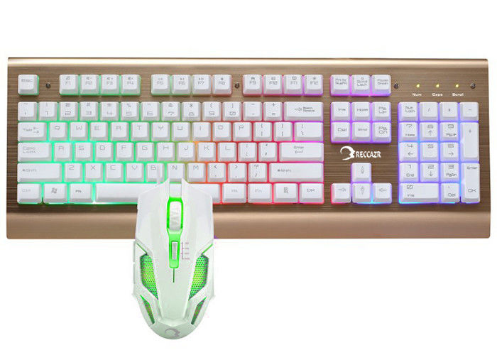 Easy Operation Pc Gaming Keyboard And Mouse Set Water Resistant Design